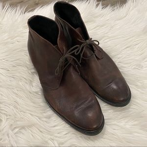 Vero Cuoio Brown Italian Leather Lace Up Boots 10